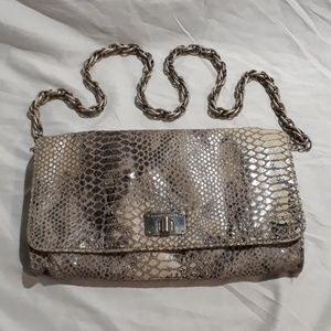 Elliott Lucca Snake Skin Pattern Purse Hand Bag
